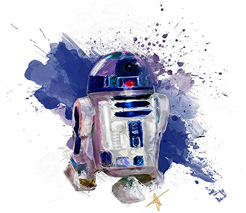 Star Wars Iron On Transfers - Star Wars R2D2 Iron On Transfer for T-Shirts & Other Light Color Fabrics #2