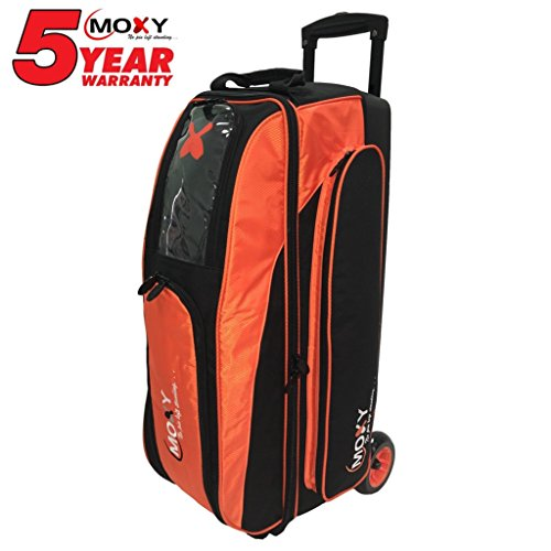 Moxy Blade Triple Roller Bowling Bag- Orange/Black by Moxy Bowling Products