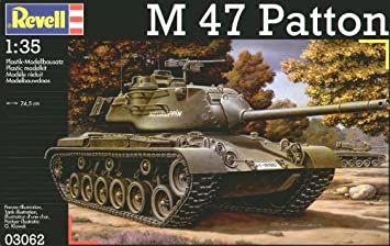 Revell 03062 - Maqueta de M47 Patton (escala 1:35): Amazon ...
