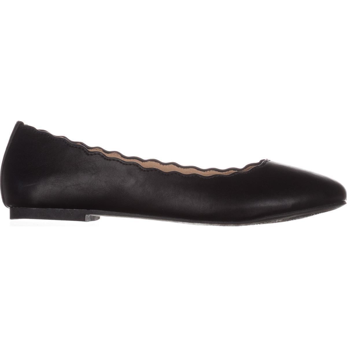Esprit Women's Odette Scalloped Edge Ballet Flats B06Y1VF7WX 8 B(M) US|Black
