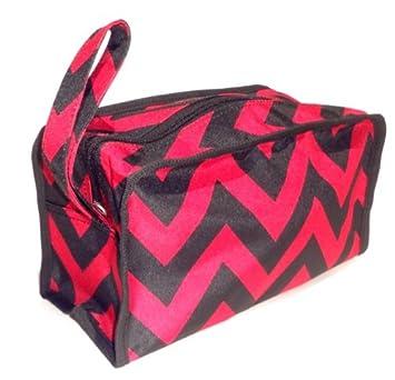 ec10602511c9 Best Black & Maroon Chevron Hanging Shaving Toiletry Travel Bag Case Dopp  Kit Zipper & Strap...