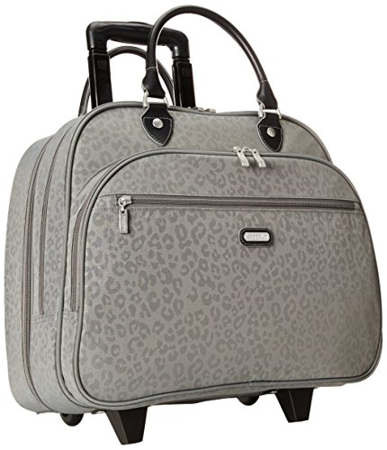 baggallini-carryon-rolling-travel-tote-pewter-cheetah-one-size