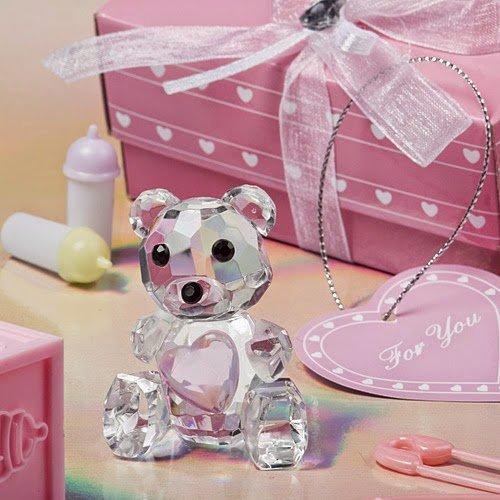 100 Choice Crystal Collection Teddy Bear Figurines - Pink