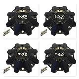 4 Pack Moto Metal 970 479L214 BP-479-MOTO Satin Black Wheel Center Cap HT 005-019