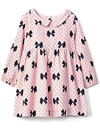 Baby Girl Bow Print Collar Dress Size 3-6M, 6-12M, 12-18M, 18-24M