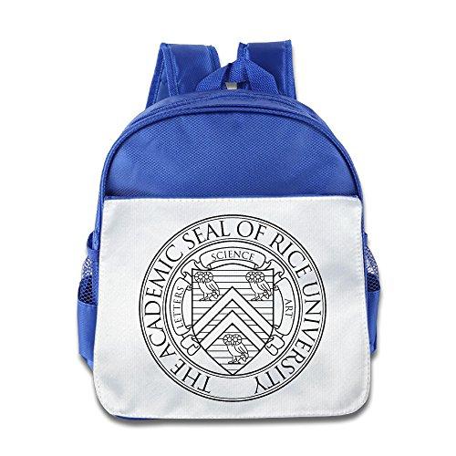 (Rice University Seal Toddler Kids Shoulder School Bag RoyalBlue)
