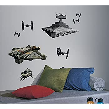 Exceptional RoomMates RMK2657GM Star Wars Rebel And Imperial Ships Peel And Stick Giant Wall  Decals