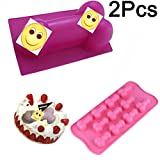 1 Pcs Pink Big Large and 1 Pack 11in1 Small Shape Silicone Mold for Birthday Single Party Hilarious Funny Baking Pan Handmade DIY Mousse Chocolate Soap Cake Ice Cube Home Kitchen Tool Novelty Cake Pan