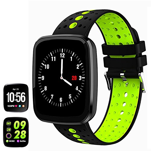 feifuns Fitness Tracker Watch, 1.3'' Color Touchscreen with Heart Rate Watch Blood Pressure Monitor, IP67 Waterproof, Step Counter Watch, Pedometer, Sleep Monitor, Smart Watch for Women Men Kids by