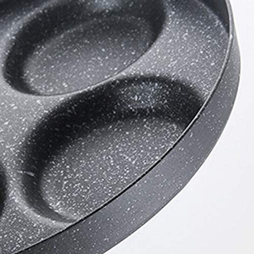N/ A 1 Pcs Oeuf Pot Quatre Trous Omelette Pot Hot Pot Faire Poêle Créative Anti-Adhésif Pas de Fumée Petit-Déjeuner Barbecue Pot Cuisson Pot