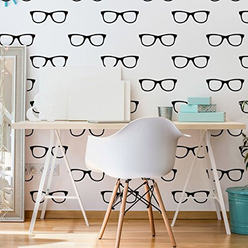 Hipster Glasses, Glasses Wall Decal, Eye Doctor, Dorm Decor, Eyewear Wall Decal, Specs Wall Decal, Sunglasses Wall Decal, Unique Wall - Optometrist Sunglasses