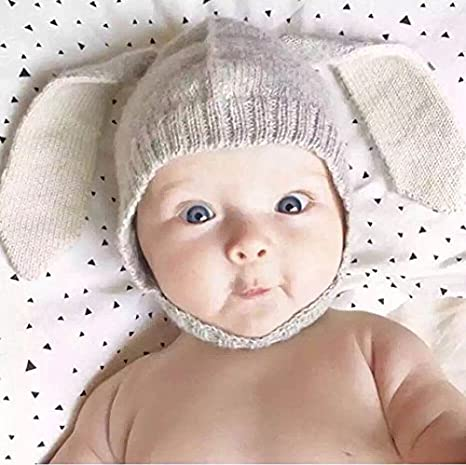 Youson Girl/® Sombreros de Beb/é Chicas Ni/ños Conejo O/ído Gorro de punto de Invierno C/álido y lindo Sombrero de Invierno para Ni/ños