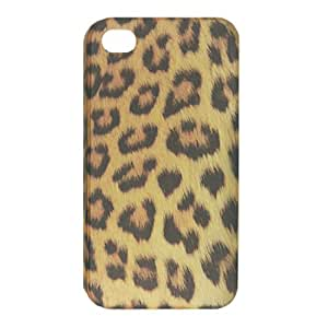 Brown Leopard Print Hard Plastic Back Case for iPhone 4 4G 4S