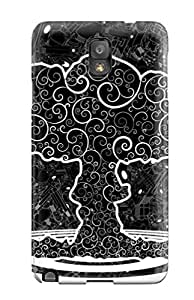 First-class Case Cover For Galaxy Note 3 Dual Protection Cover Dark