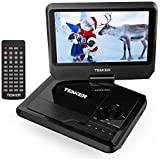 "TENKER Portable DVD Player with 9.5"" Swivel Screen, Built-in Rechargeable Battery and SD Card Slot & USB Port [Upgraded Version]"
