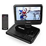 TENKER Portable DVD Player with 9.5' Swivel Screen, Built-in Rechargeable Battery and SD Card Slot & USB Port [Upgraded Version]