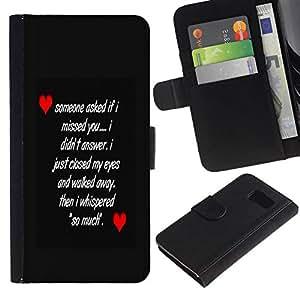 All Phone Most Case / Oferta Especial Cáscara Funda de cuero Monedero Cubierta de proteccion Caso / Wallet Case for Sony Xperia Z3 Compact // LOVE MESSAGE