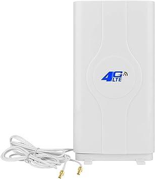 NETVIP 2 x TS9 4G Antena móvil 3G 4G LTE Antena Amplificador de señal MIMO Panel Antenna Macho Conector de Red Router móvil aérea Doble Banda Ancha ...