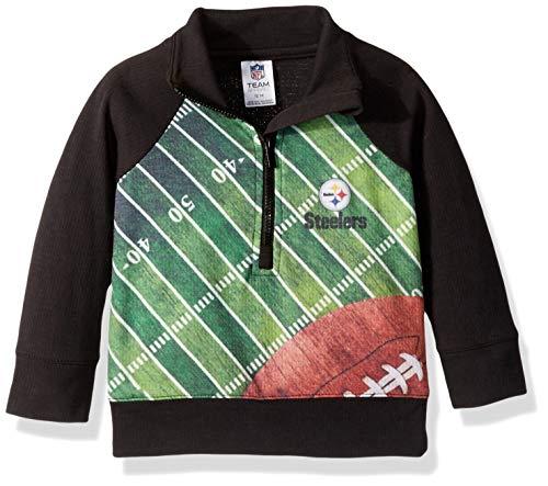 NFL Pittsburgh Steelers Unisex-Baby 1/4 Zip Shirt, Black, 12 Months