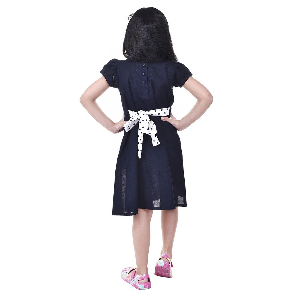 0c8c6d18e GOODWILL Girl s Casual Cotton Frock-GWK-002Navy  Amazon.in  Clothing ...