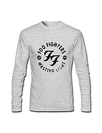 QMY Men's Foo Fighters Wasting Light Logo Long Sleeve T-shirts