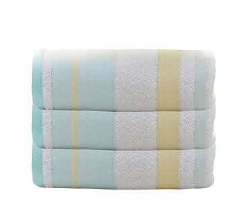 Icegrey 3 Piezas Toalla de baño 100% algodón Toallas de baño Toallas clásicos Toalla de