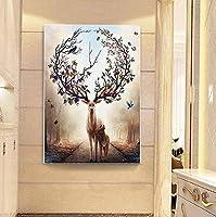 potato /& straw Deer elk Animals 5d Full Diamond Painting DIY Diamond Embroidery Rhinestone Mosaic Pattern Cross Stitch Kits Picture Decor
