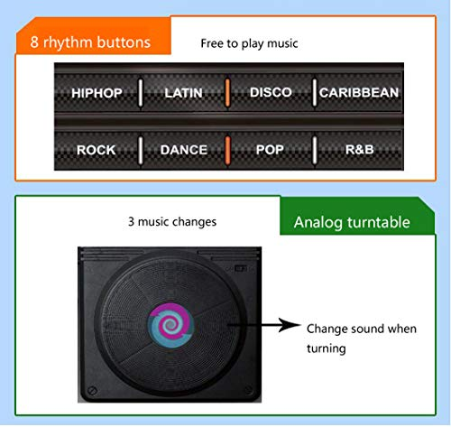 Homesave Mat Electronic Music Style Playmat with Microphone 9070cm by Homesave (Image #3)