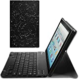 "Fintie Keyboard Case for All-New Fire HD 10 (7th Generation, 2017 Release), Slim Lightweight Stand Cover with Detachable Wireless Bluetooth Keyboard for Amazon Fire HD 10.1"" Tablet, Constellation"