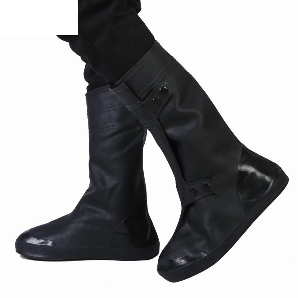 YANGBM Silicone Rain Boots Outdoor Waterproof Silicone Shoe Cover Rain Boots Cover Reusable Waterproof Shoe Cover Silicone rain Boots (Size : XXXXL)
