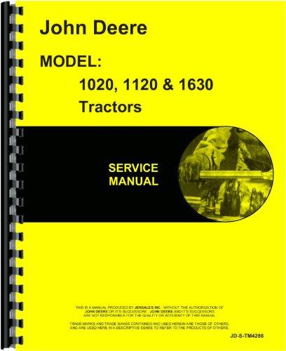 John Deere 1020 1120 1630 Tractor Service Manual (JD-S-TM4286)