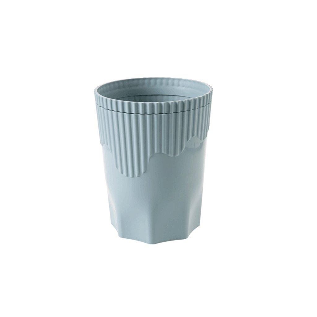Bote De Basura Anillo De Anillo Basura De Presión A Rayas, Sala De Estar Baño De Cocina Cuarto De Basura De Plástico (Color : B) 57d599