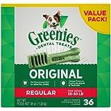 Greenies Dental Chews Value Size Tub 36ct 36oz Regular