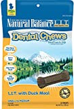 Natural Balance L.I.T. Dental Chews Duck Dog Treats, Small, 13 Ounce, 12 Pack