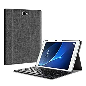 Fintie Keyboard Case for Samsung Galaxy Tab A 10.1(2016 NO S Pen Version),Slim Lightweight Stand Cover w/Magnetically Detachable Wireless Bluetooth Keyboard Compatible with Tab A 10.1, Denim Charcoal