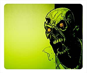 Flame Skull Oblong Gaming Mouse Mat Zombie by mcsharks