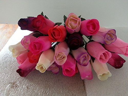2 Dozen Wooden Roses Mixture of 8 Colors-Little Chicago Distributing by Little Chicago Distributing-Forever Wood Roses (Image #2)