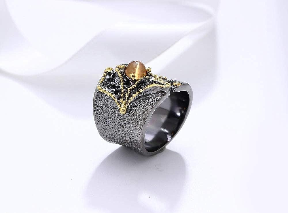 Gigantic Cappuccino Flint Ring Huge Striped Flint Ring Neutral Colour Stone Ring Oversized Gemstone Ring Handmade 33 x 47 mm