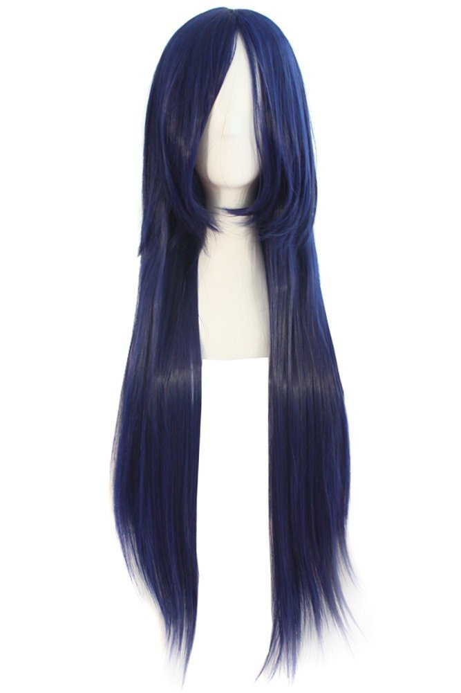 MapofBeauty 32 80cm Long Straight Anime Costume Cosplay Wig Party Wig (Purple)