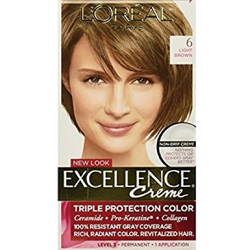 Price comparison product image L'Oreal Excellence Creme, Light Brown [6] 1 Each