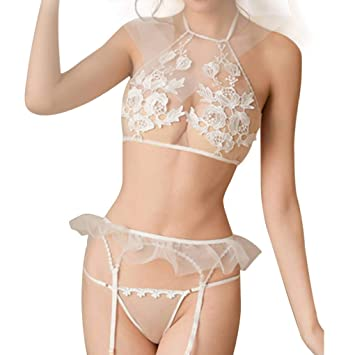 Amazon.com: AUWU Cuatro piezas de la ropa Interior del Traje ...