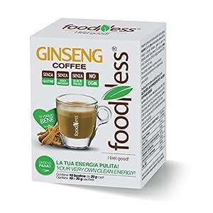 Foodness Preparato Monodose per Caffè al Ginseng - 5 confezioni da 10 bustine (tot. 50 bustine)