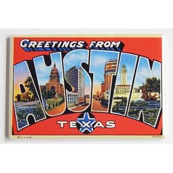 Amazon greetings from austin texas fridge magnet 2 x 3 inches greetings from austin texas fridge magnet 2 x 3 inches m4hsunfo