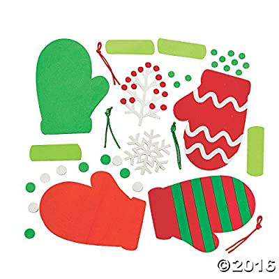 Christmas Mitten Foam Ornament Craft Kit - Crafts for Kids and Fun Home Activities: Toys & Games