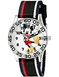 Kids' W001944 Mickey Mouse Analog Watch with Black Band