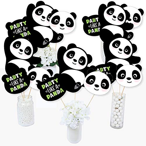 Party Like a Panda Bear - Baby Shower or Birthday Party Centerpiece Sticks - Table Toppers - Set of 15]()