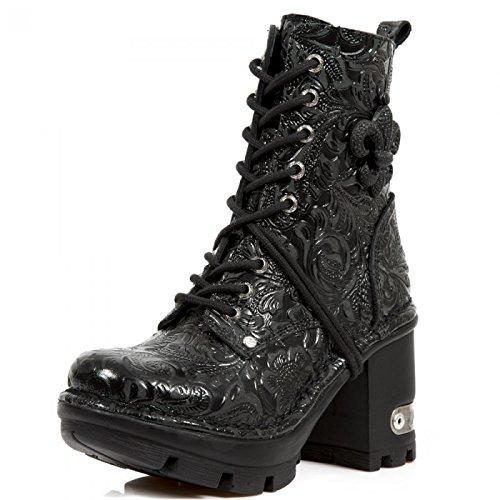 Nuovi Stivali Di Roccia M.neotyre07-c2 Gotiche Damen Hardrock Punk Stiefelette Schwarz