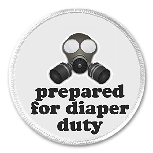 Dad Patch - Gas Mask - prepared for diaper duty 3