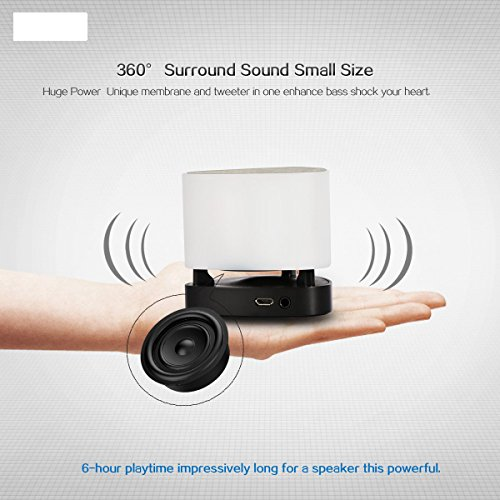Bluetooth Speakers,SyndeRay Mini Portable Wireless Stereo With App Colorful  LED Light Subwoofer HIFI Speaker Compatibility for