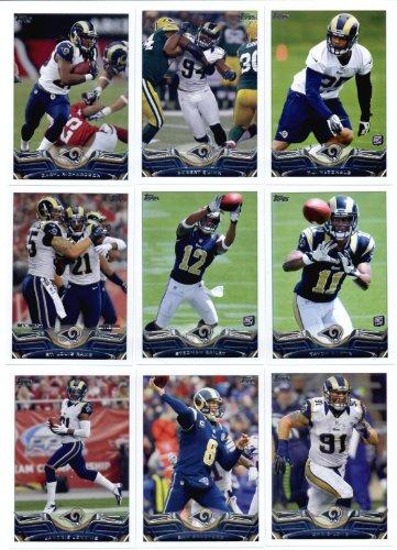 2013 Topps NFL Football Team Set (IN 4-POCKET NOTEBOOK) - St. Louis Rams 15 Cards Robert Quinn T.J. McDonald Daryl Richardson Tavon Austin Chris Long St. Louis Rams Stedman Bailey - Bailey Quinn